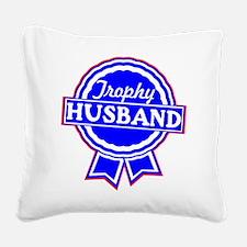 wht_trophy_husband_02.png Square Canvas Pillow