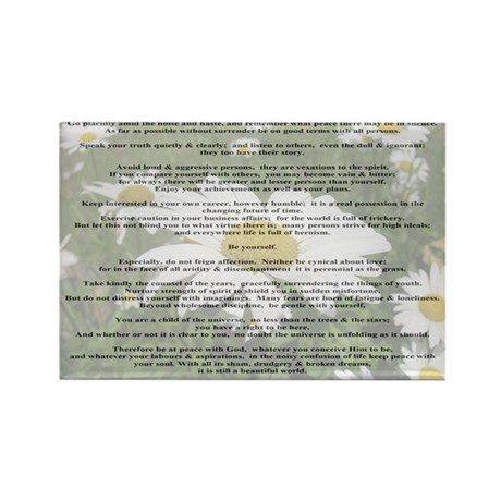 Desiderata Amongst The Daisy Rectangle Magnet (10