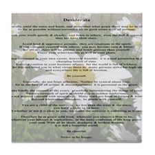Desiderata Amongst The  Daisy Tile Coaster