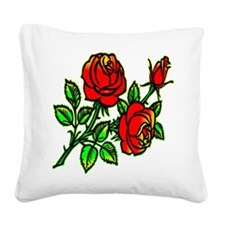 wht_tattoo_flowers_2001.png Square Canvas Pillow