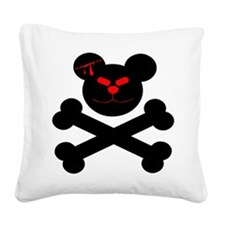 wht_Evil_Teddy_Bear.png Square Canvas Pillow