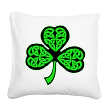 wht_3_shamrocks_2001.png Square Canvas Pillow