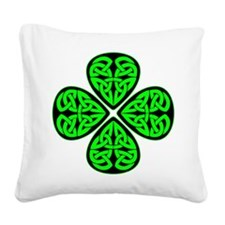 wht_4_shamrocks_2001.png Square Canvas Pillow