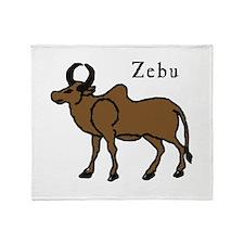 Zebu Throw Blanket