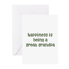 Happiness is being a Great Gr Greeting Cards (Pack