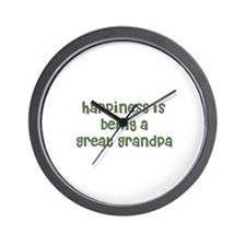 Happiness is being a Great Gr Wall Clock