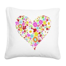 wht_flower_heart.png Square Canvas Pillow