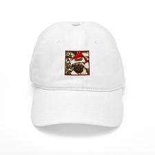 Christmas Pug Dog Baseball Cap