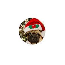 Christmas Pug Dog Mini Button