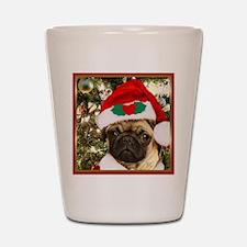 Christmas Pug Dog Shot Glass
