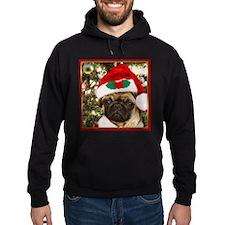 Christmas Pug Dog Hoody