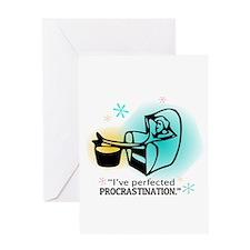 """I've perfected procrastination."" (Teal/Gold) Gree"