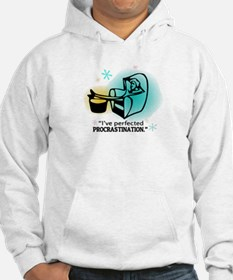 """I've perfected procrastination."" (Teal/Gold) Hood"
