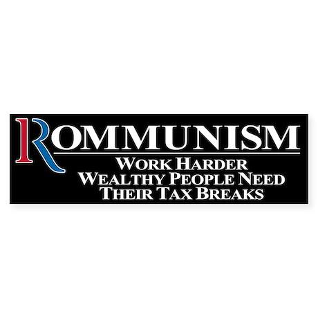 Anti-Romney Bumper Sticker Sticker (Bumper)