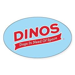 Team DINOS Logo Sticker (Oval)
