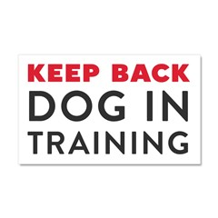 Dog in Training Large Car Magnet 20 x 12
