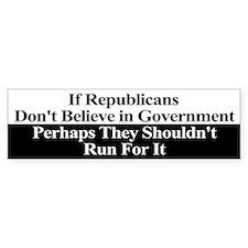 Anti-Republican Bumper Sticker Car Sticker