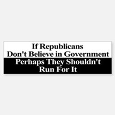 Anti-Republican Bumper Sticker Sticker (Bumper)