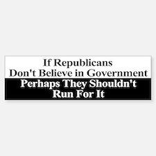 Anti-Republican Bumper Sticker Stickers