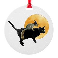 Witch Squirrel Cat Ornament