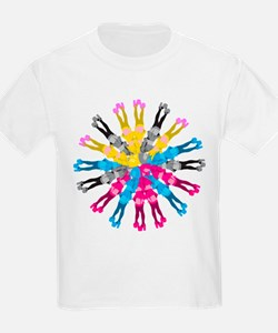 Colorful Cosplay Girls T-Shirt