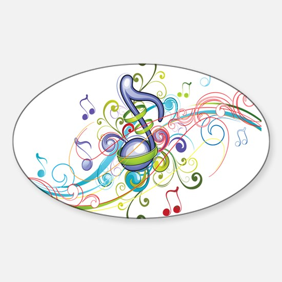 Music in the air Sticker (Oval)