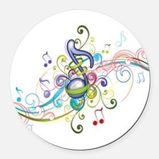 Music in the air Round Car Magnet