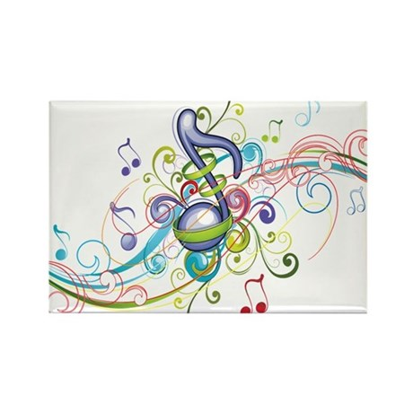 Music in the air Rectangle Magnet (100 pack)