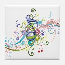 Music in the air Tile Coaster