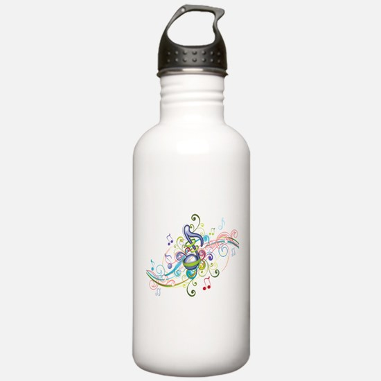 Music in the air Water Bottle
