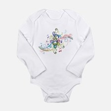 Music in the air Long Sleeve Infant Bodysuit