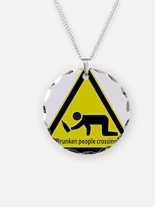 Drunken People Crossing Necklace