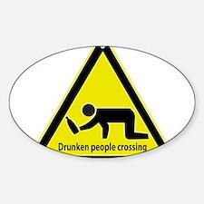Drunken People Crossing Decal