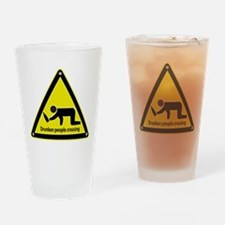 Drunken People Crossing Drinking Glass