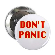 42 HITCHHIKER'S DONT PANIC GUIDE Button