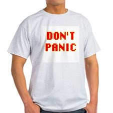 42 HITCHHIKER'S DONT PANIC GUIDE Ash Grey T-Shirt