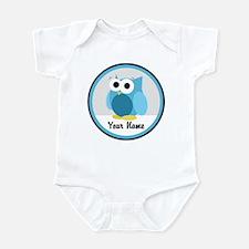 Funny Cute Blue Owl Infant Bodysuit