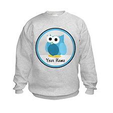 Funny Cute Blue Owl Sweatshirt