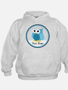 Funny Cute Blue Owl Hoodie