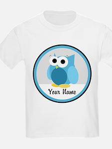 Funny Cute Blue Owl T-Shirt
