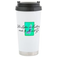 The Lake is Calling and I Must Go Travel Mug