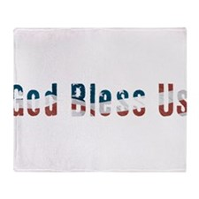 Political God Bless Us Throw Blanket