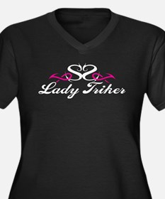 Trike tshirt Lady Triker Women's Plus Size V-Neck