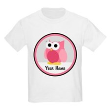 Funny Cute Pink Owl T-Shirt