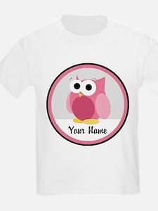 Funny Cute Pink Owl T-Shirt