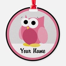 Funny Cute Pink Owl Ornament