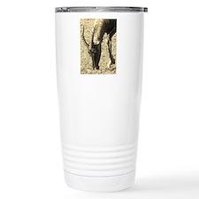 sepia topi grazing Travel Coffee Mug
