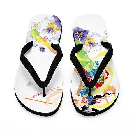 Oriental Girl Flip Flops