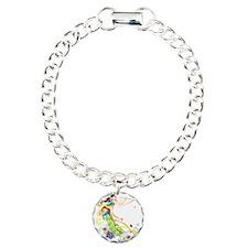 Oriental Girl Charm Bracelet, One Charm
