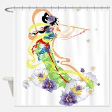 Oriental Girl Shower Curtain